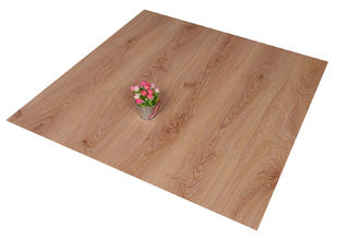 Click Lock PVC Floor Tiles Living Room Wooden Floor Effect Tiles Anti - Flaming
